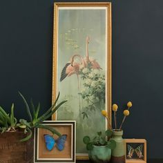 1960s Tropical 'Flamingo Pink' Pastel Picture #2