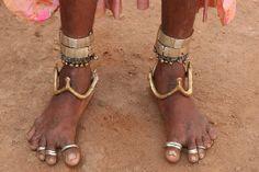 India | The jewellery details worn by a Lambadi/Banjara woman at Raikal village. Andhra Pradesh | © Walter Callens.