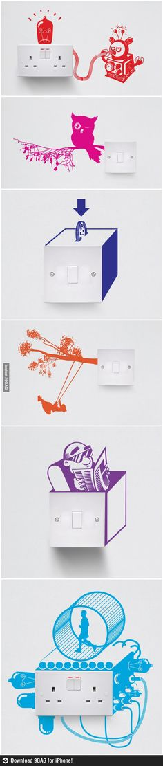 adorable touches of whimsy for these switch vinyl wall decals