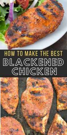 Learn how to make grilled blackened chicken with your very own homemade blackening rub! This is the perfect easy chicken recipe! Chicken Skillet Recipes, Best Chicken Recipes, Beef Recipes, Cookie Recipes, Blackened Chicken Pasta, Crispy Chicken, Comidas Fitness, Breast Recipe, Skinny