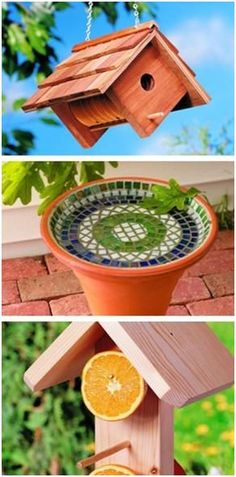 Attract Beautiful Songbirds to Your Yard - Build any of thirty-five different styles of bird houses, bird feeders and bird baths with free, DIY project plans from BirdsAndBlooms.com