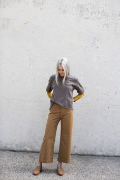 blueberrymodern:    Jesse Kamm Sailor Pant in Tobacco