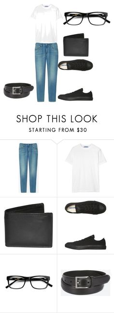 """""""my husband duffy's outfit"""" by jeaninemr on Polyvore featuring Uniqlo, Prada, Dopp, Converse, men's fashion and menswear"""