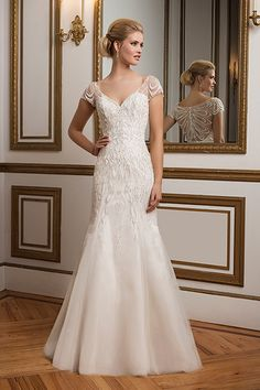 Wedding gown by Justin Alexander.Check out more gorgeous dresses in our Justin Alexander gown gallery ►