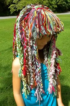 What a great way to use up ur yarn scraps.