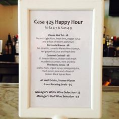 All-Evening Happy Hour is every Sunday at Hotel Casa 425 Lounge.  http://www.casa425.com/lounge.htm