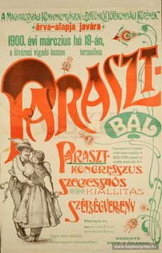 Paraszt-bál, 1900 Vintage Ads, Vintage Posters, Typography Poster, Illustrations And Posters, Film Posters, Budapest, Art Reference, Advertising, Lettering