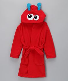 Take a look at this Red Monster Bathrobe - Toddler by jelli fish kids on #zulily today!