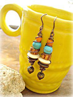 Boho Earrings  Boho Jewelry  Yoga Earrings  by HandcraftedYoga, $22.00