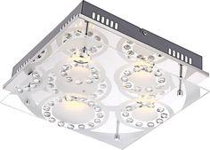LED-Deckenleuchte TISOY - Glaskristalle Jetzt bestellen unter: https://moebel.ladendirekt.de/lampen/deckenleuchten/deckenlampen/?uid=d603d26a-b653-593a-bfeb-86a247c16c05&utm_source=pinterest&utm_medium=pin&utm_campaign=boards #deckenleuchten #lampen #deckenlampen