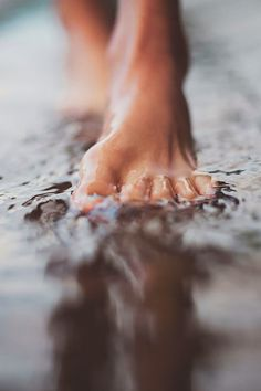 When I grew up in Hawaii we would walk barefoot in the street gutters when it rain. Because the rain is warm. Because the rain would rush downhill in the gutters. The most fun! Beach Photography, Street Photography, Levitation Photography, Exposure Photography, Abstract Photography, Beach Quotes, Simple Pleasures, Belle Photo, Native American Indians