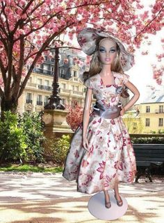 Paris in Springtime by DollsByTiffanie on Etsy, $25.00     My latest doll fashion design on Etsy.... :)