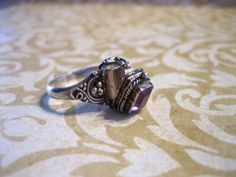 Vintage Sterling Silver and Amethyst Poison Ring by charmingellie, $45.00