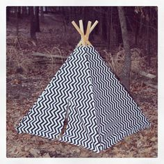 Custom Teepee Tent - Children Toddler - Poles Included Choose Fabric. $110.00, via Etsy.