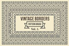 Vintage Borders Pattern Brushes 3 by G7 on @creativemarket