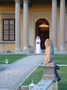 Bride Walking Down The Aisle - Fiesole, Italy - 10-8-2012 - photo by Audrie Lawrence