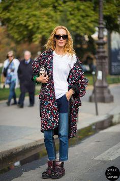 Elina Halimi Street Style Street Fashion Streetsnaps by STYLEDUMONDE Street Style Fashion Blog