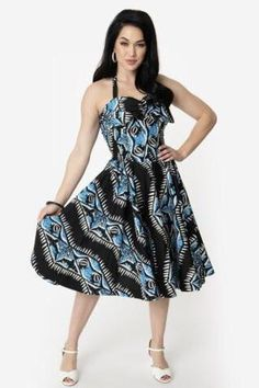bc4452da04 Alfred Shaheen Shark Swing Dress by Unique Vintage. Dresses – Modern Millie  Shop