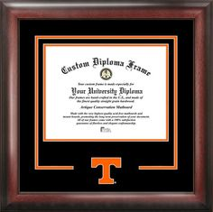University of Tennessee Diploma Frame - College Logo - Spirit Mat Cutout