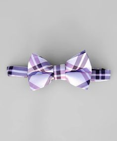 Love this Purple Plaid Bow Tie - Kids by Littlest Prince Couture on #zulily! #zulilyfinds
