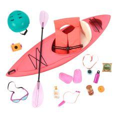 Let's go on an outdoor kayak adventure! Our Generation: Deluxe Accessory Set – Kayak Adventures Our Generation Doll Accessories, My Life Doll Accessories, Kayak Accessories, Accessories Online, Bjd Doll, Ag Dolls, Girl Dolls, Barbie Dolls, Poupées Our Generation