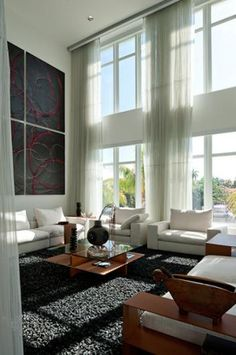 Love The Tall Windows And Curtains Interior Design Living Room Designs