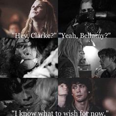 The 100 Bellamy Blake and Clarke Griffin