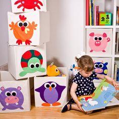 Cajas de almacenaje para guardar juguetes de Keeddo - Mamidecora.com