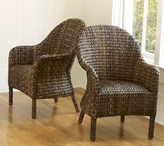 Seagrass Bucket Armchair #potterybarn (like The Idea Of A Rattan Or Wicker  Chair Better
