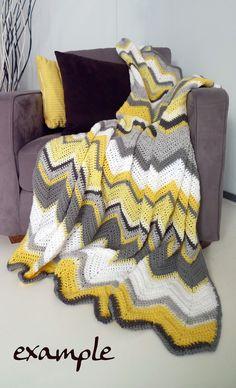 MADE TO ORDER 12p afghan crochet chevron by WinkelvanCinkel, $99.00