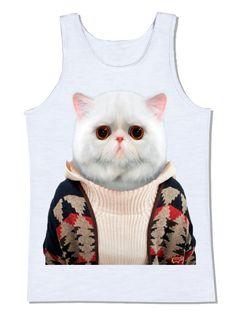 camiseta gato branco pull over blusa gola rolê animais de estimação pet lã