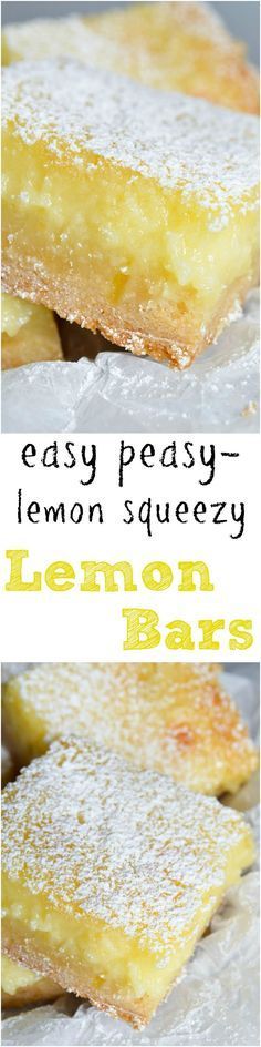 Easy Cake Mix Lemon Bars Recipe - These are the best lemon bars! Simple and delicious. Made with cake mix and a gooey cream cheese top. This lemon dessert will be a hit! Use gf cake mix for gluten free 13 Desserts, Lemon Desserts, Lemon Recipes, Sweet Recipes, Baking Recipes, Cookie Recipes, Juice Recipes, Cake Mix Recipes, Dessert Recipes