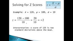 z scores - Introductory Statistics