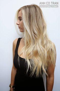 PERFECT HAIR AT RAMIREZ|TRAN SALON. Cut/Style: Anh Co Tran. Appointment inquiries please call Ramirez|Tran Salon in Beverly Hills: 310.724.8167