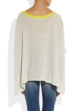Duffy|Neon-trimmed draped cashmere sweater|NET-A-PORTER.COM