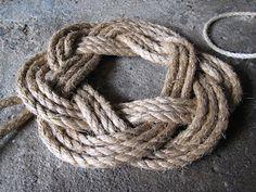 How to make a nautical rope wreath (Turk's Head knot) - The Right Coast Nova Scotia