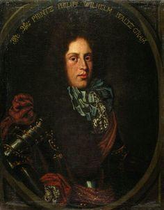 Portrait de Philipp Wilhelm August von der Pfalz, prince palatin de Neubourg Liniedes Wittelsbach, 1668 peintre anonyme