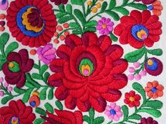 Matyo embroidery from cushion. parna.co.uk