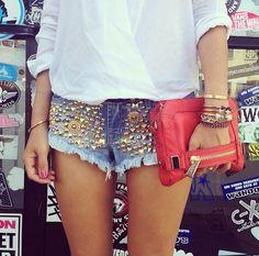 Zımbalı şort modası- shorts