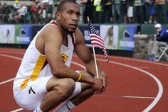 USC runner Bryshon Nellum finishes third in the 400 meters at U.S. Olympic track and field trials, almost four years after being shot in the legs near campus