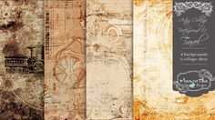 Artsy Collage Background 01 - Travel