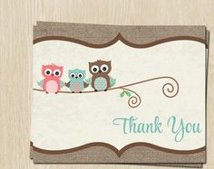 Baby Shower Thank You Cards, Baby Boy, Blue, Owl Family, Rustic, Country, Set of 24 Folding Notes, FREE Shipping, LWHAB, Burlap Owls Blue - http://www.baby-showerinvitations.com/baby-shower-thank-you-cards-baby-boy-blue-owl-family-rustic-country-set-of-24-folding-notes-free-shipping-lwhab-burlap-owls-blue.html