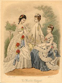 1870s Fashion | 1870s Fashion Plate. Le Monde Elegant