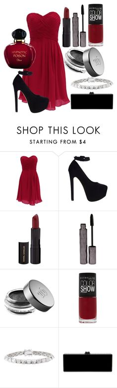 """""""#493"""" by anacf ❤ liked on Polyvore featuring ASOS, Daniel Sandler, Tarina Tarantino, Urban Decay, Maybelline, Eddie Borgo, Edie Parker, Christian Dior, women's clothing and women"""