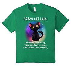 crazy cat boy - Kids Crazy cat lady- Funny Cat Shirts 8 Kelly Green * Click image for more details. (This is an affiliate link) #CrazyCats