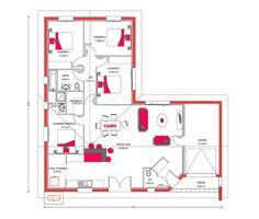 Plan-Maison-Moderne-90m2 | Plans maison | Pinterest | Small house ...