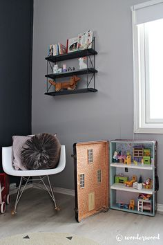 WONDERWOOD.no: DIY Suitcase Dollhouse
