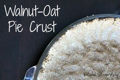 A healthy substitute for a graham cracker crust this gluten-free pie crust also has no trans fats. Simple and delicious using walnuts and oats.
