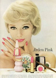 1959 Vogue vintage lipstick ad - LOVE this look!