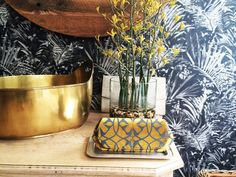 SQ Clutch-it Bag on Limone Eco Velvet with Charcoal Geometric glamour To purchase at www.suziequ.co.uk  £26.00